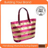Brillante promotionnel Tissu Lady Tote Sac de plage
