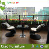 Cadeira usada ao ar livre da barra da mobília do jardim do Rattan do PE (CF957T)