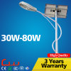 Luz ao ar livre solar da lâmpada de rua da carcaça 30W 6m de Alumium da ESPIGA