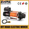 12 voltios 8288lbs 4X4 eléctrico del torno del camino con la cuerda sintetizada