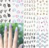 Стикер ногтя стикера искусствоа ногтя переноса воды этикет цветка сердца