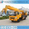 Grue hydraulique de camion de consommation 6 tonnes à vendre
