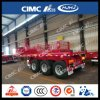 Cimc 20FT 8.5m 3axle Frontlifting/derrubada do reboque Flatbed do recipiente Semi
