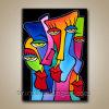 Het zuivere Met de hand gemaakte Abstracte Eigentijdse Moderne Schilderen van het Pop-art (klsjpa-0007)