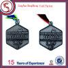 旧式な銀製のめっきのマラソンの金属賞メダル