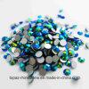Runde heiße Verlegenheits-flache RückseiteRhinestones des Smaragd-AB nicht Kristall für Telefon-Kasten (FB-ss20 Smaragdab/3A Grad)