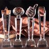 Arte popular del trofeo del vidrio cristalino K9 para el recuerdo