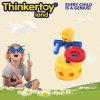 L'attrezzo di plastica del giocattolo dei mattoni dell'edilizia della Cina ostruisce i giocattoli