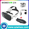 Controlemechanisme HD Glasses+Remote van de Werkelijkheid van Bobo Z4 Google Cardboard het Virtual 3D