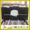 Dessus noir Polished élevé de vanité de granit de Shanxi pour la salle de bains