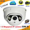 1.0 Megapixel IR 돔 IP CCTV 사진기 공급자