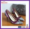 Zapatos de tacón alto de serpiente del cuero promocional de la piel