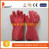 Ddsafety 2017 перчаток 100%Cotton при розовый законченный обломок PVC грубый