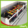 Trampoline retangular longo dos miúdos para parques de diversões
