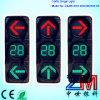 Alto semaforo infiammante di cambiamento continuo LED con il segnale stradale del tester/di conto alla rovescia