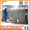 China Color de cambio rápido de proyección de polvo de la cabina