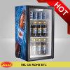 Mini étalage en verre d'affichage de réfrigérateur de boisson de porte