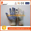 Côté de PVC un d'onde d'eau bleue de gant de Knit de chaîne de caractères de coton/polyester (DKP146)