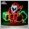 Luces grandes hechas a mano de China Papá Noel del día de fiesta de la luz del adorno del LED