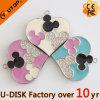 創造的なMickeyの中心の宝石類USBのフラッシュディスク(YT-6242)