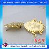 Etiquetas de encargo del metal del precio de la alta calidad de la luz del bolso barato del oro