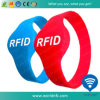 13.56MHz F08 Waterproof o bracelete do silicone de RFID para Waterpark
