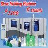 Pequeña máquina plástica del moldeo por insuflación de aire comprimido de la protuberancia de la botella de agua del animal doméstico