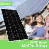 Mono comitato a energia solare 150W con costo poco costoso usato sul tetto