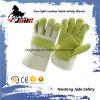 Anti-Rayer le gant industriel de travail de sûreté de main de cuir fendu de peau de vache