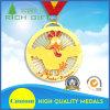 Medaille Van uitstekende kwaliteit van het Metaal van de Individualiteit van de Vorm van de Kip van de douane de Gouden