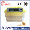 Incubateur complètement automatique de 96 de poulet oeufs de /Quail
