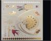 etiquetas engomadas temporales metálicas impermeables del tatuaje del oro de destello de la manera