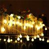 Bolas de algodón cadena de luces de Navidad Decoración Comercial