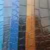 Cuir lumineux de PVC de crocodile de couleur pour la décoration de présidences de sacs