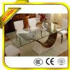 vidrio Tempered claro llano de 3-19m m para la tapa de los muebles/de vector/el aparato electrodoméstico