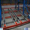 Cadena de producción estante del almacenaje del flujo del cartón con las ruedas