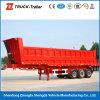 3 Radachse Hydraulic Cylinder Rear Dump Trailer auf Hot Sale