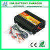 Carregador de bateria portátil do carregador de bateria 50A 12V de Queenswing 24V (QW-50A)