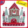 Diseño formado castillo de madera del calendario del advenimiento para la decoración de la Navidad