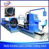 Eisen-elliptische Gefäß-Metalllegierungs-elliptisches Gefäß-Umlauf-Rohr CNC-Plasma/Flamme-Ausschnitt-Maschine