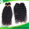 Tecelagem peruana do cabelo da onda profunda apertada a mais popular da onda