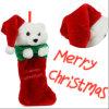 2017新式のかわいいクリスマスの装飾のストッキングJ004