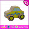 2015熱いSell Low Price Cute Kids Wooden Taxi Car Toy、Child、Bulk W04A118のYellow Wooden Taxi Toy CarのためのPopular Cute Toy Taxi