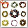 De onlangs Verschillende Kroon van de Slinger van Kerstmis van Kleuren Kunstmatige