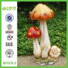 Sculpture en gros en champignon de couche de jardin de résine (NF11215-3)