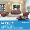 現代居間の余暇のソファー、ホーム家具の革ソファー