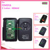 Auto chave remota esperta para Toyota 3 teclas 434MHz