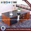 を使ってガラステーブルの上の居間1.2mのコーヒーテーブル(HX-6M377)