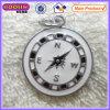 De leuke Black&White Geëmailleerden Charme #13858 van het Kompas van het Metaal