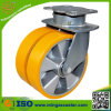 Schwenker-Platten-Hochleistungspolyurethan-Aluminiumrad-Fußrolle